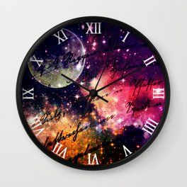 Letter from outer space Wall Clock