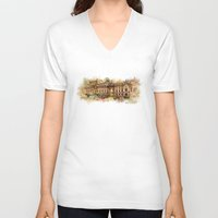 theatre V-neck T-shirts featuring Slowacki Theatre, Cracow by jbjart