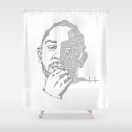 Kendrick Lamar Portrait: #blacklivesmatter Shower Curtain