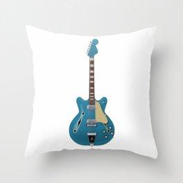 Hollow Body Guitar Throw Pillow