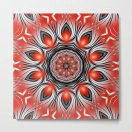 Mandala red 24 Metal Print
