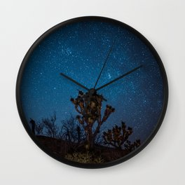 Midnight Stars at Joshua Tree Wall Clock