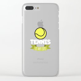 Tennis is my life Clear iPhone Case