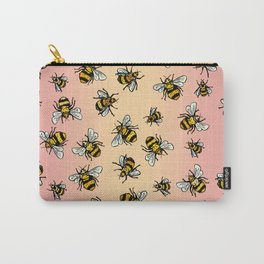 ALL DA BEES (mini) - Rose Gold Carry-All Pouch