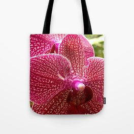 Pink patterned orchid Tote Bag