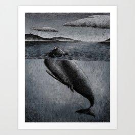 Fish and Bird Art Print