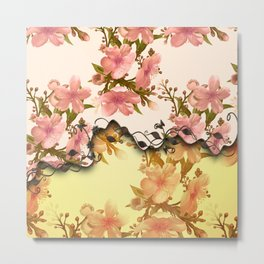 A touch of vintage, floral design Metal Print