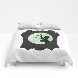 JACKALOPE SILHOUETTE - green Comforters