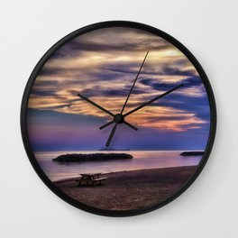 Sunset on the Beach Wall Clock