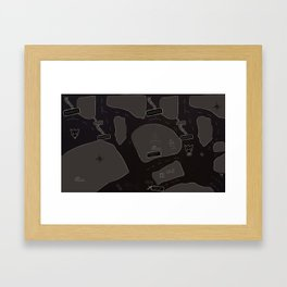 type landscape Framed Art Print