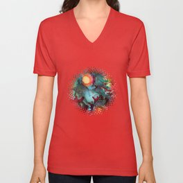 Color Splash Unisex V-Neck