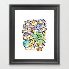 Hedgehog family Framed Art Print