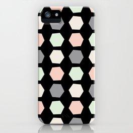 Wonky Pastel Honeycomb iPhone Case