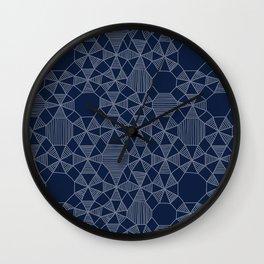 Abstract Minimalism on Navy Wall Clock