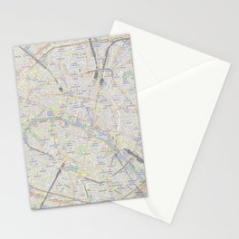 map of Paris – France, French,city of light,seine, parisien, parisian. Stationery Cards