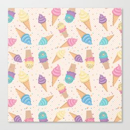 ice cream party Canvas Print