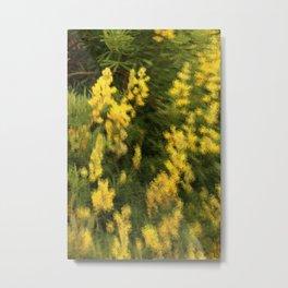 Yellow  Rain Metal Print