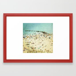 Coney Island Beach 2 Framed Art Print