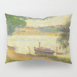 Gray weather Grande Jatte 1888 Oil Painting Pointillism Post-Impressionism Impressionism Modern art Pillow Sham