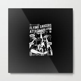 Flying saucers attack | ovni | ufo Metal Print