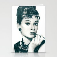 hepburn Stationery Cards featuring My Hepburn by Thubakabra