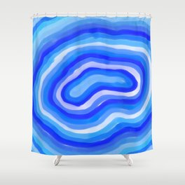 Blue Floating Shower Curtain