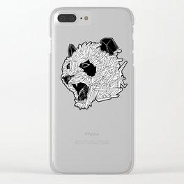 Geometric Panda Clear iPhone Case