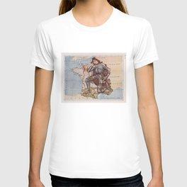 Vintage France Joan of Arc Illustrative Map (1912) T-shirt
