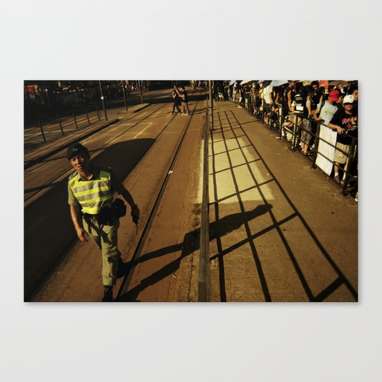 hong kong police Canvas Print