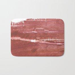 Red Brown nebulous wash drawing pattern Bath Mat