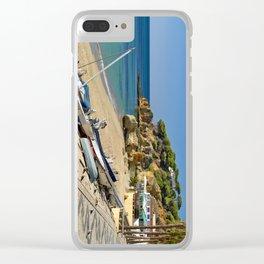 Olhos d'Agua beach in winter, Portugal Clear iPhone Case