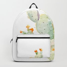 Prickly pear cactus. Opuntia Backpack