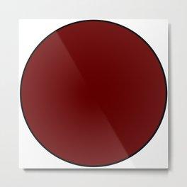Red Dot Metal Print