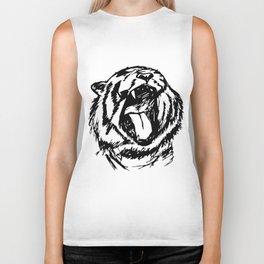 Tiger yawn Biker Tank