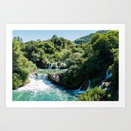 Waterfall in Krka NP - Croatia Art Print