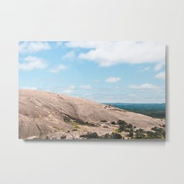 Wow, thats a big rock. Enchanted Rock State Park. Metal Print