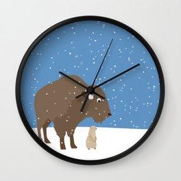 buffalo & prairie dog - I've got you covered Wall Clock