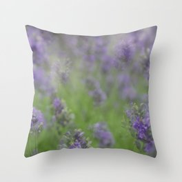 Layers of Lavender Throw Pillow