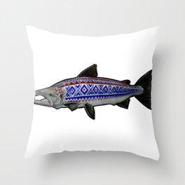 Marius Salmon Throw Pillow