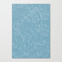 Global warming and animal migration 03 Canvas Print