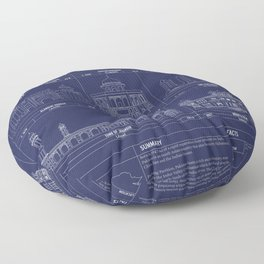 The Architecture of Pakistan Floor Pillow