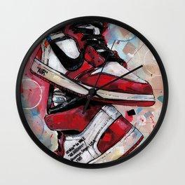 Air Jordan 1 High Off White  Wall Clock