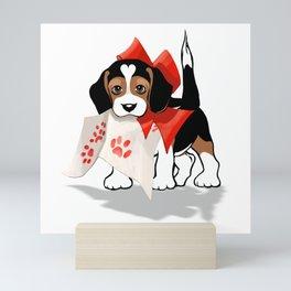The Love Puppy—Love Letter Mini Art Print