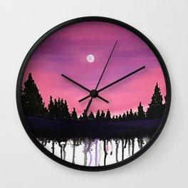 Lush Moon Wall Clock