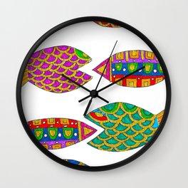 Fancy Fish People Wall Clock