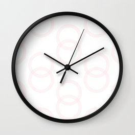 Simply Infinity Link in Flamingo Pink on White Wall Clock