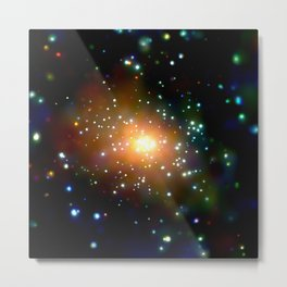 1844. Andromeda Galaxy (M31): The Heat Is On in Andromeda's Center Metal Print
