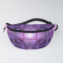 Pink Purple Squareza Fanny Pack