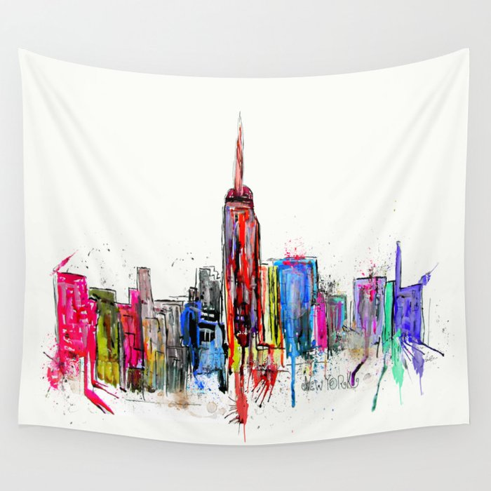 new york inked  Wall Tapestry