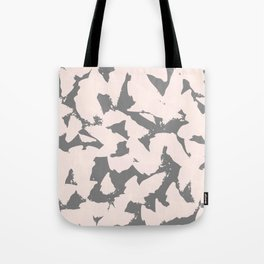 Pastel Pink Bird Wings on Grey Tote Bag